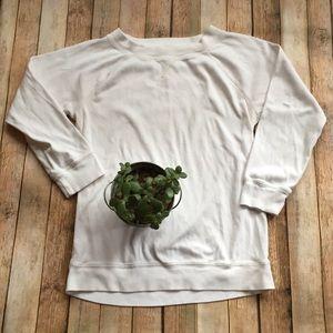J. Crew Factory | White sweatshirt!